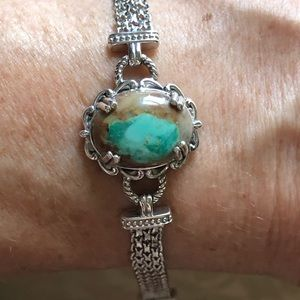 Royston Turquoise Sterling Silver Bracelet